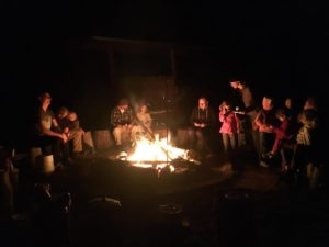 Evening around the campfire at Narara Ecovillage @ Camping area